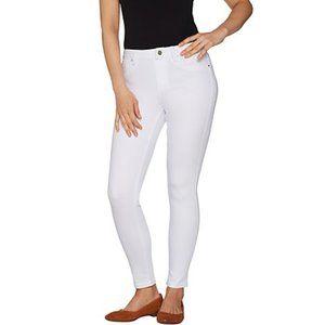Laurie Felt Denim Pull On Skinny White Jeans Plus